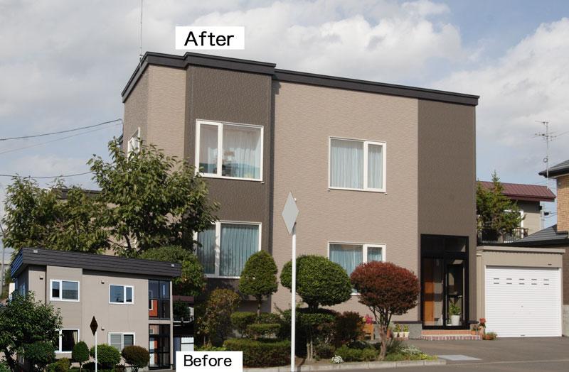 写真:きっかけは築25年の我が家の外壁改修「家じゅう暖かくなった!」石狩市F邸(1)